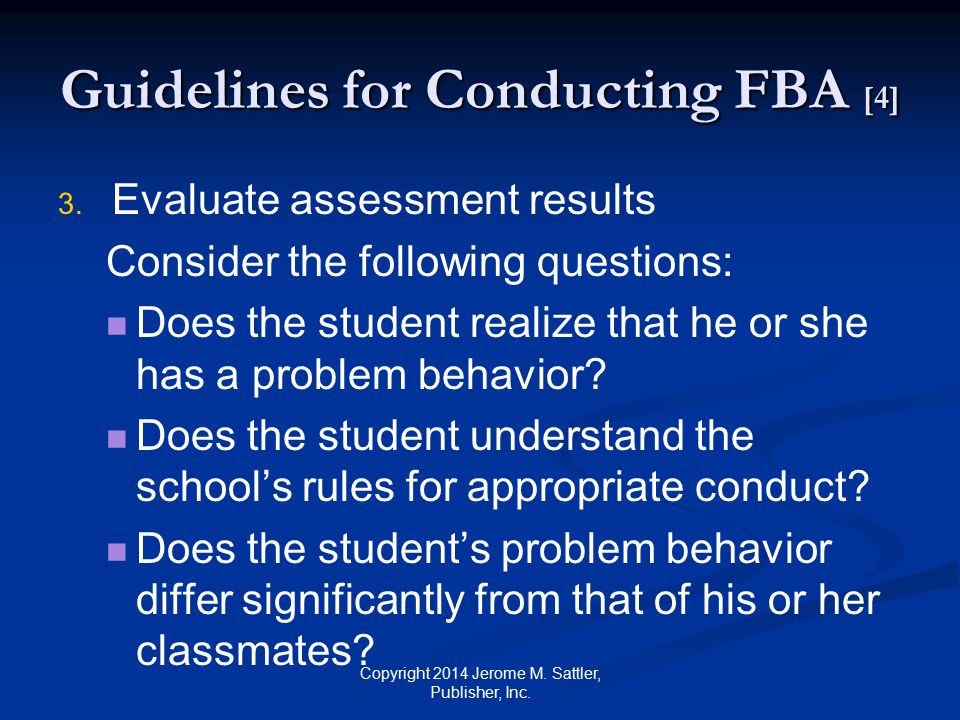 Guidelines for Conducting FBA [4]